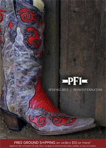 Picture of western clothing store from PFI Western Wear catalog
