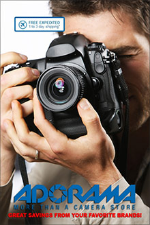 Picture of camera catalog from Adorama catalog