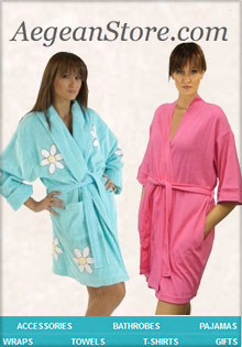 Picture of terry cloth bathrobes for women from Aegean Store catalog