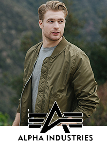 Picture of military style clothing from Alpha Industries catalog