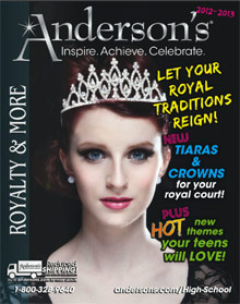 Image of high school royalty from Anderson's Events catalog
