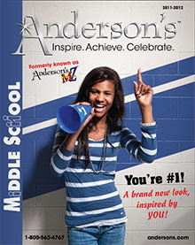 Image of achievement lapel pins from Anderson�s Middle School catalog