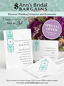 Picture of cheap wedding invitations from Ann's Bridal catalog