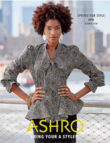 Picture of women's ethnic clothing from ASHRO Lifestyle catalog
