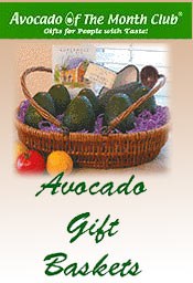 Image of avocado gift basket from Avocado of the Month Club catalog