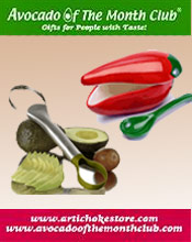 Image of avocado tools from Avocado of the Month Club catalog