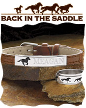 Image of equine themed gifts from Back in the Saddle catalog