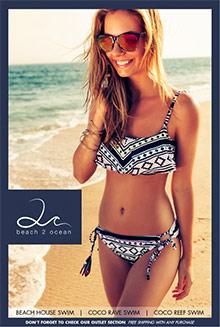 Picture of beach house swimwear from Beach2Ocean Swimwear catalog