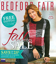 Picture of Bedford fair catalog from Bedford Fair catalog