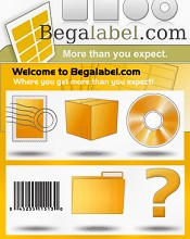 Picture of labels by the sheet from Bega Label catalog
