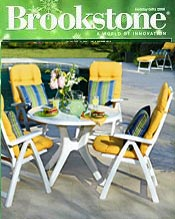 Image of patio throw pillows from Brookstone catalog