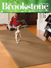 Image of indoor outdoor doormat from Brookstone catalog