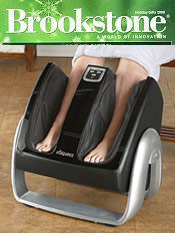 Image of feet and leg massager from Brookstone catalog