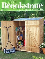 Image of outdoor storage products from Brookstone catalog