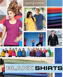 Picture of plain white tees from Blankshirts catalog