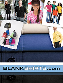 Picture of plain white tees from Blankshirts.com catalog
