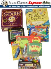 Picture of classic board games from Board Games Express catalog