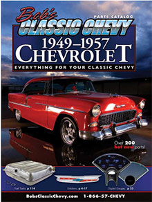 Picture of classic Chevy car parts from Bob's Classic catalog