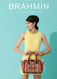 Picture of handbag styles from Brahmin catalog