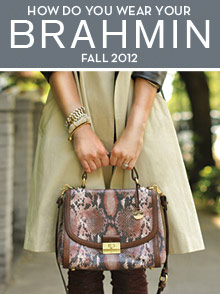 Picture of handbag styles from Brahmin Handbags catalog