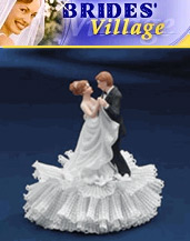 Image of elegant wedding cake toppers from Brides Village Wedding Accessories catalog