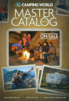 Picture of RV supplies from Camping World catalog