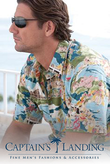 Picture of mens fishing shirts from Captain's Landing catalog