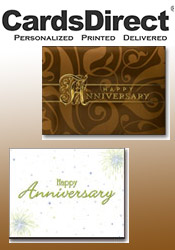 Image of happy anniversary cards from CardsDirect catalog
