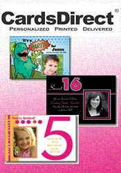 Image of fun birthday invitation from CardsDirect catalog