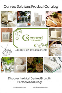 Picture of monogrammed soap from Carved Solutions � Soaps & Candles catalog
