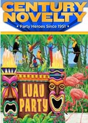 Image of Hawaiian luau party ideas from Century Novelty catalog