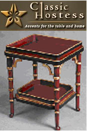 Image of furniture accent tables from Classic Hostess - DYNALOG ONLY catalog