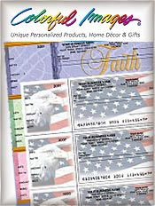 Image of quality personal checks from Colorful Images catalog