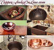 Picture of copper sinks from Copper Sinks catalog
