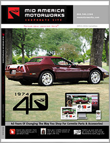 Picture of Corvette parts catalog from Mid America Corvette catalog