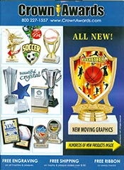 Picture of custom awards from Crown Awards and Trophies catalog