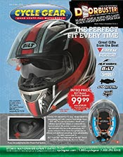 Picture of motorcycle parts catalog from Cycle Gear - Street catalog