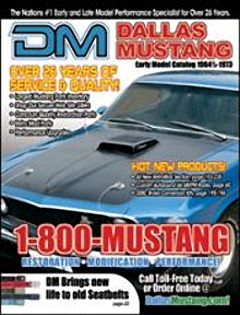 Picture of Mustang performance parts from Dallas Mustang catalog
