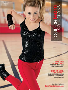Picture of dance costume catalog from Dance Team Solutions catalog