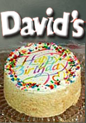 Image of birthday party cakes from David's Cookies catalog