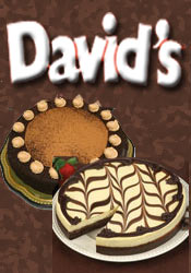 Image of chocolate truffle cake from David's Cookies catalog