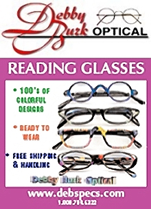 Picture of eyeglasses accessories from Debby Burk catalog