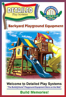 Picture of residential playground equipment from Detailed Play catalog