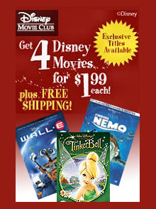 Picture of disney dvd movies from Disney Movie Club catalog
