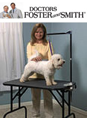 Image of tools for dog grooming from Doctors Foster and Smith catalog