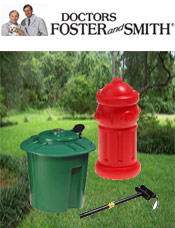 Image of doggie waste disposal from Doctors Foster and Smith catalog