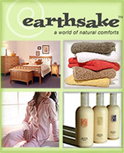 Picture of organic linens from earthsake catalog