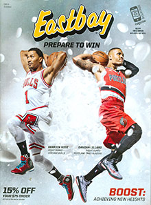 Picture of Eastbay shoes from Eastbay catalog