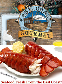 Picture of seafood delivery from East Coast Gourmet catalog