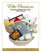 Image of babies gift baskets from Elite Occasions Gift Baskets catalog